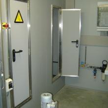 Very small door for scrubber