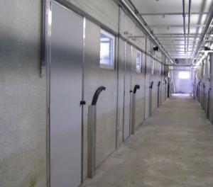 AgriDoor Isoplus inside door with stainless steel lock